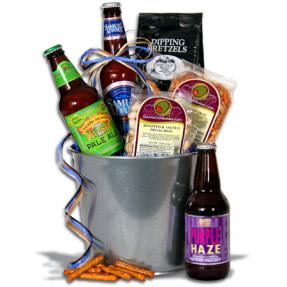 Американская корзинка с пивом