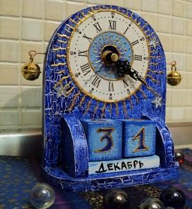 Вечный каледнарь и часы хенд мейд