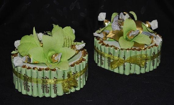 красиво оформляем подарок, декор коробки печенья