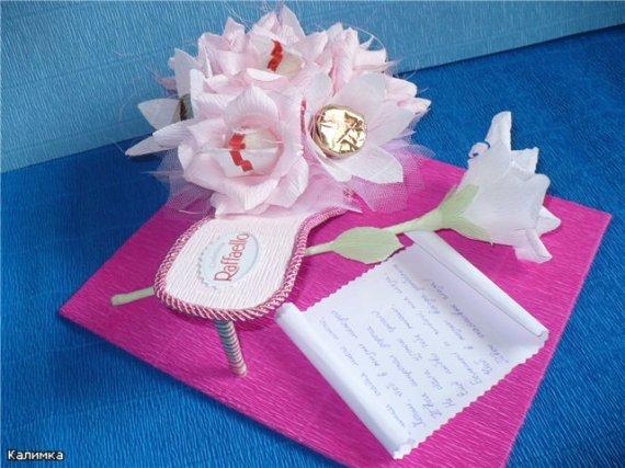 оригинальные идеи конфетного букета и декора конфет