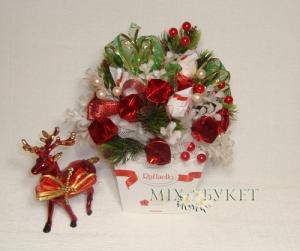 новогодние концеты, оформление коробки конфет, новогодний подарок