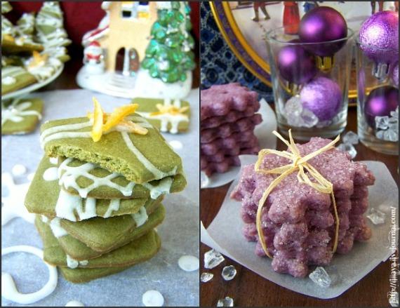 новогоднее печенье, цветное новогоднее печенье, подаочное новогоднее печенье